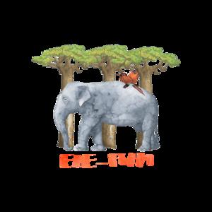 Elephant Ele Fun Illustration