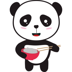 Cute Panda With Rice Bowl