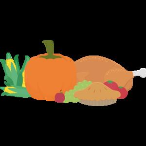 Thanksgiving Turkey And Pumpkin