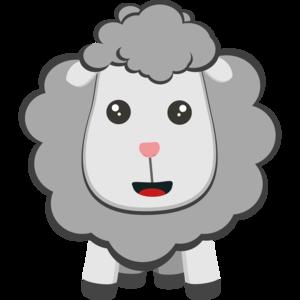 Big Eyed Kawaii Sheep