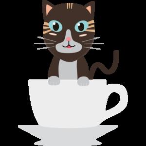 Cat In Cup