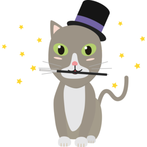 Magic Cat With Stars