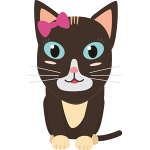Cute Cat With Bow