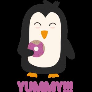 Penguin With A Doughnut