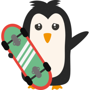 Skateboard Penguin