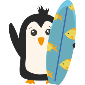 Surfboard Penguin