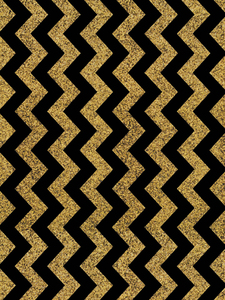 Golden Black Zigzag