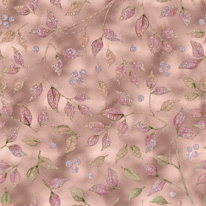 Autum Leaves Pink Metal
