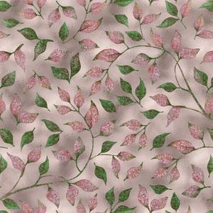 Autum Leaves Pink Metal 2