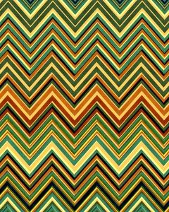 Orange Yellow Green Retro Pattern