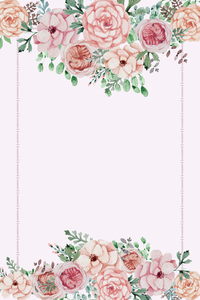 Flower Love On Pink
