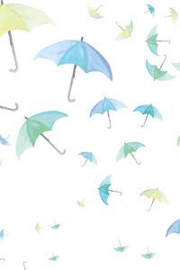 Blue Green Umbrellas