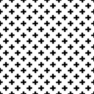 Black Plus Pattern