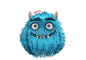 A Cute Little Blue Monster