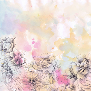 Flower Watercolors Abstract