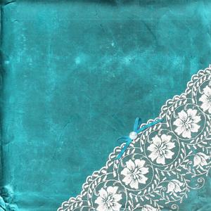 Vintage Shabby White Bride Lace On Aqua