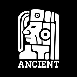 Ancient Mayan God On Black