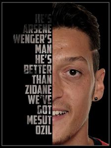 Mesut Ozil Typography