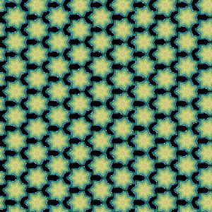 Green Stars Decorative Pattern 2