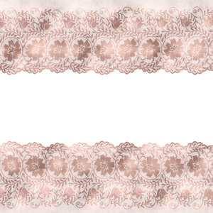 Vintage Bridal Shabby Chic Pink Lace On White