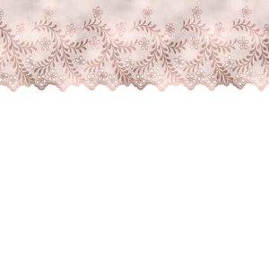 Vintage Bridal Shabby Chic Pink Lace On White 3