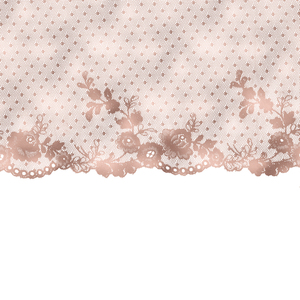 Vintage Bridal Shabby Chic Pink Lace On White 6