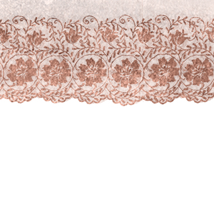 Vintage Bridal Shabby Chic Pink Lace On White 7