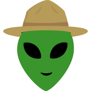 Alien With Park Ranger Hat