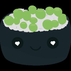 Sushi With Green Caviar