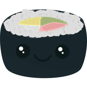 Smiling Sushi With Vegetables