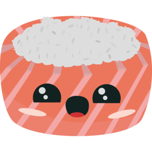 Rice And Salmon Sushi
