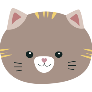 Brown Cat With Yellow Stripes