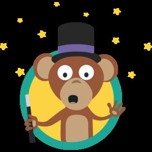 Monkey Wizard With Stars