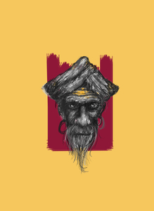Sadhu On Yellow