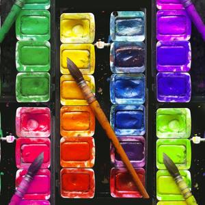 Watercolors Artist Palette