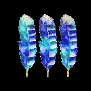 3 Blue Flowers