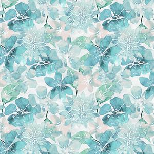 Handpainted Blue Flowers