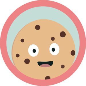 Chocolate Cookie With Red Circle
