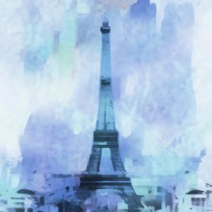 Blue Eiffel Tower Paris