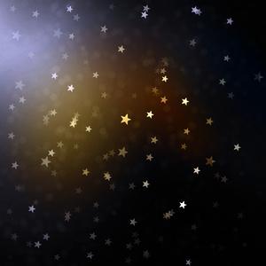 Beautiful Gold Sparkle Stars Sky Feminine