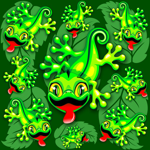 Gecko Lizard Baby Cartoon