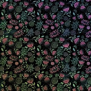 Colorful Pink Flowers On Black Metal