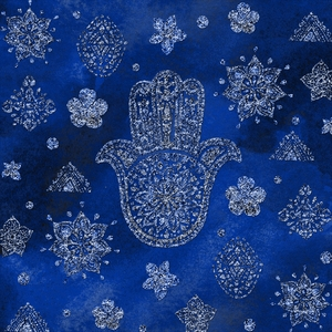 Simple Folklore Indian Pattern In Blue