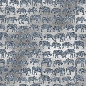 Silver Elephant Rhinoceros