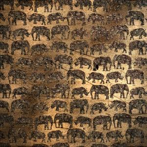 Golden Elephant Rhinoceros
