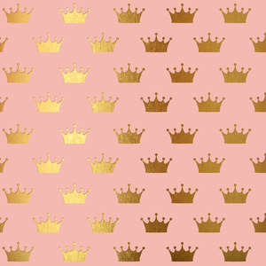 Gold Crowns On Pink