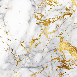 White And Gold Marble Print 1