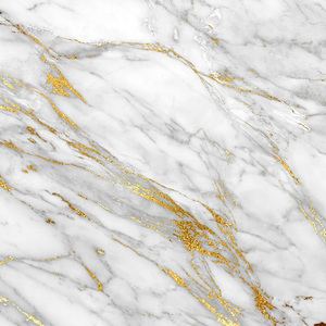 White And Gold Marble Print 3
