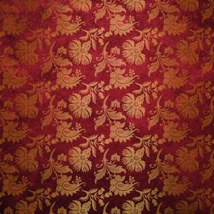 Red Flower Floral Damask