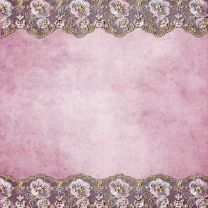 Pink Floral Lace On Pink Background